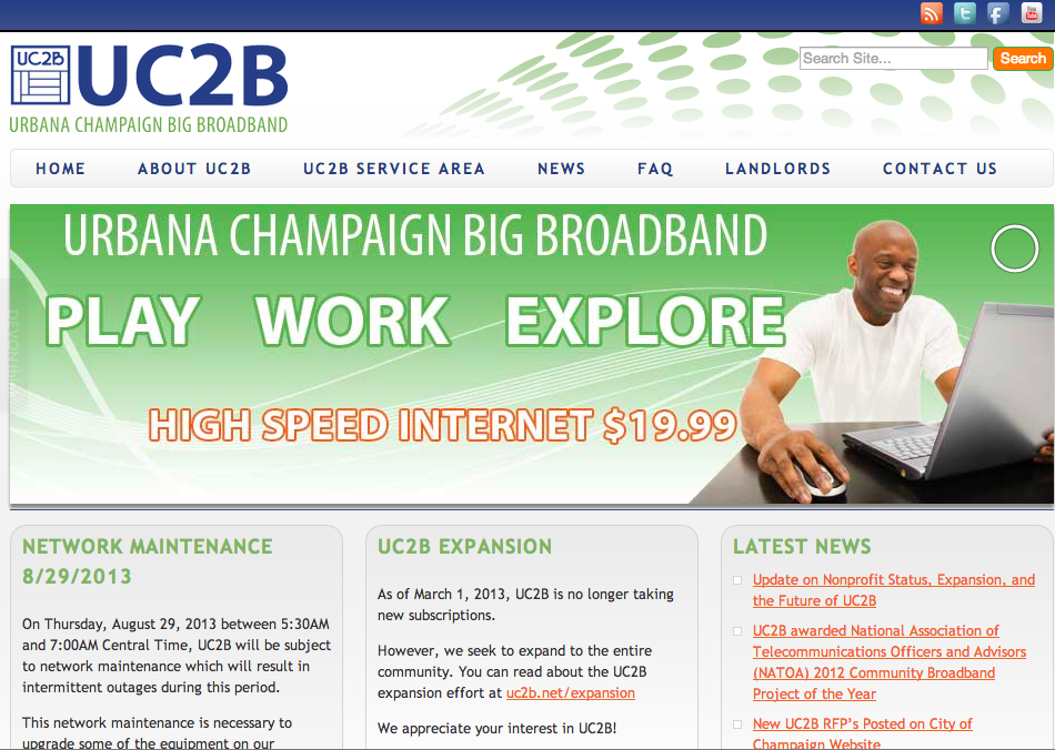 Website for the Urbana Champaign Big Broadband Project.