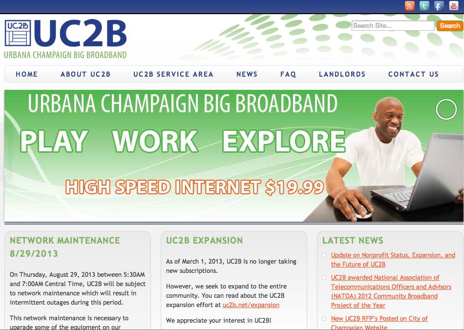 Website for the Urbana Champaign Big Broadband Project.