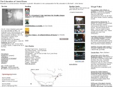 JaredDunn.org front page